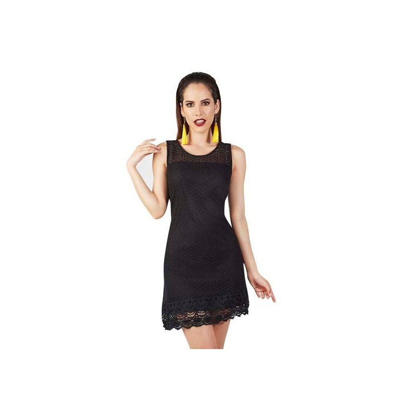 Vestido corto negro 015143
