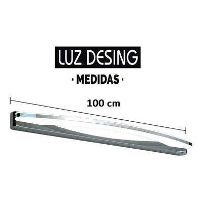 Aplique Pared Luz Led 19w Acero Cromo Calidad Premium Tz