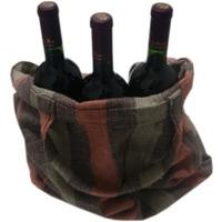 Kit Sacola ecológica + 3 Vinhos Tinto Suave Izabel/Bordô720ml