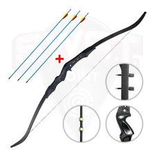 Arco Recurvo Profesional Prana Pro Hunter Lujo 3 Flechas Alu