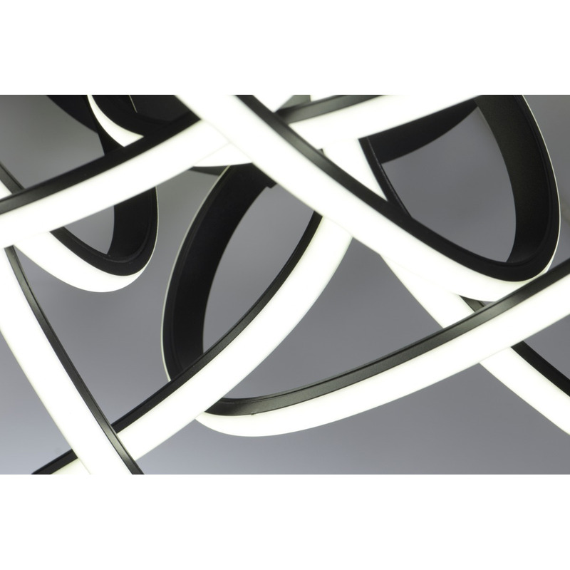 Plafon Aplique Led Moderno 60w Potencia Stathe Negro Deco Lk