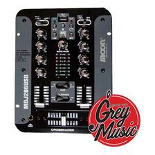 Mixer De Dj Dos Canales Moon Mdj-206usb - Grey Music