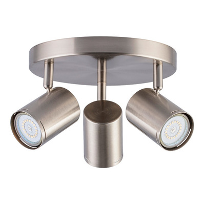 Aplique 3 Luces Acero Platil Moderno Apto Led U1043 Mks
