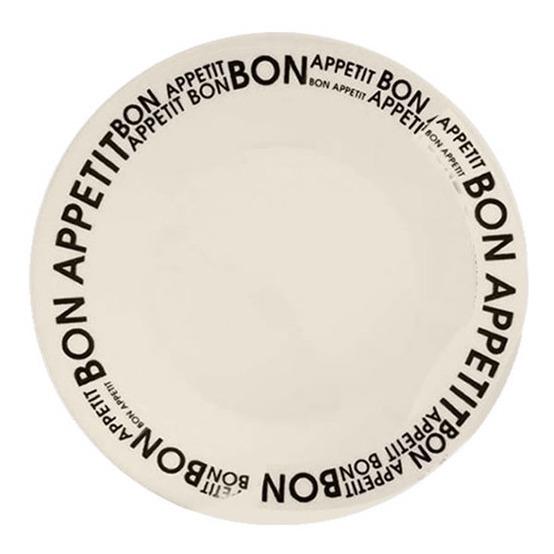 Plato Postre Redondo Biona Bon Appetit Loza Decorado