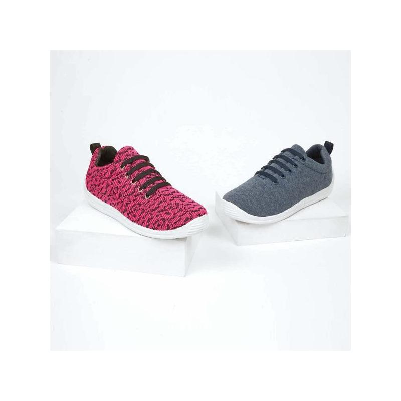 Sneakers rosas con negro  016560
