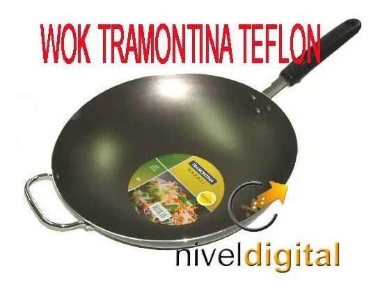 Wok Con Mango Tramontina 36 Cm Antiadherente Starflon Gtia