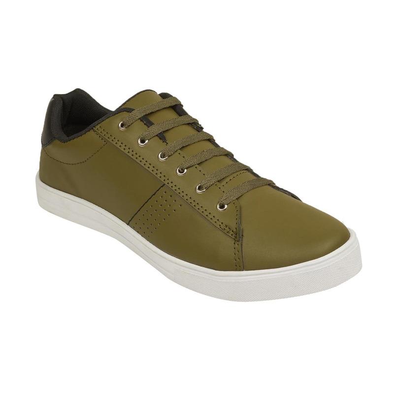 Sneakers verde olivo 018748