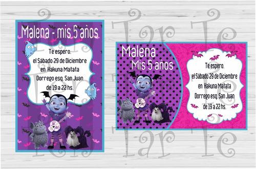 Invitaciones Tarjetas Infantiles Vampirina X20 En