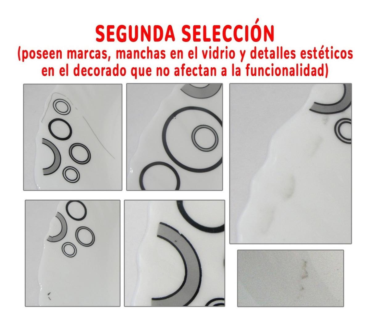 Set 20 Pz Vajilla Platos Vidrio Blanc Deco Circulo 2da Selec