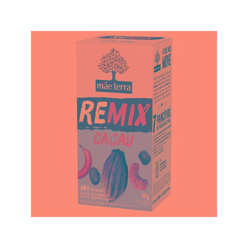 REMIX Cacau (Mix Frutas+Cacau+Caju+Banana) 2x25g Mae Terra