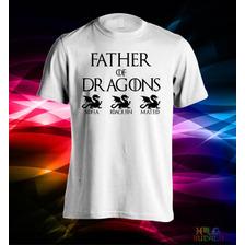 Remeras Estampadas Día Del Padre Father Of Dragons