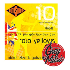 Encordado Rotosound R10-8 Roto Yellows Para Eléctrica De 8 C