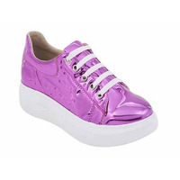 Sneakers lila metálico 017376