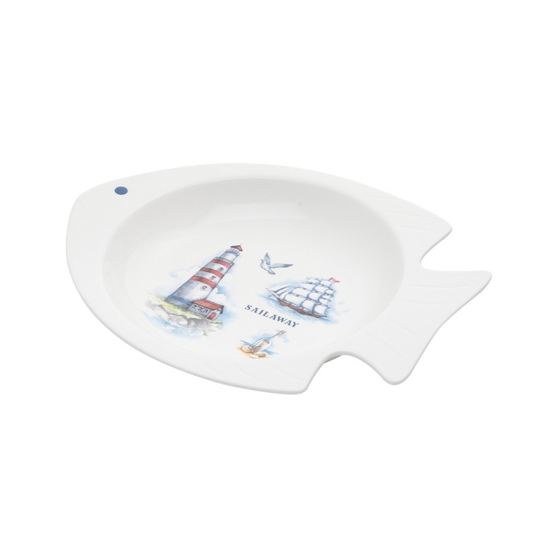 Prato  Peixe de Porcelana 25,5X21,3X4,2Cm 31017050