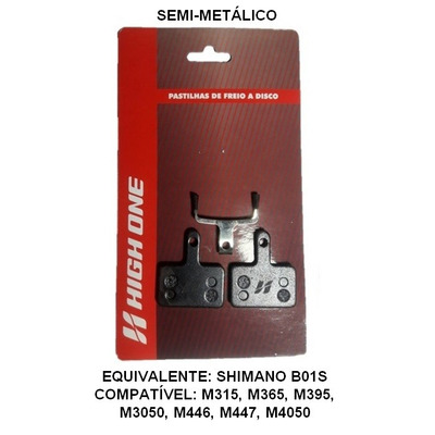 PASTILHA DE FREIO DISCO HIGH ONE SEMI METALICA - TOURNEY / ALTUS / ACERA / ALIVIO = B01S