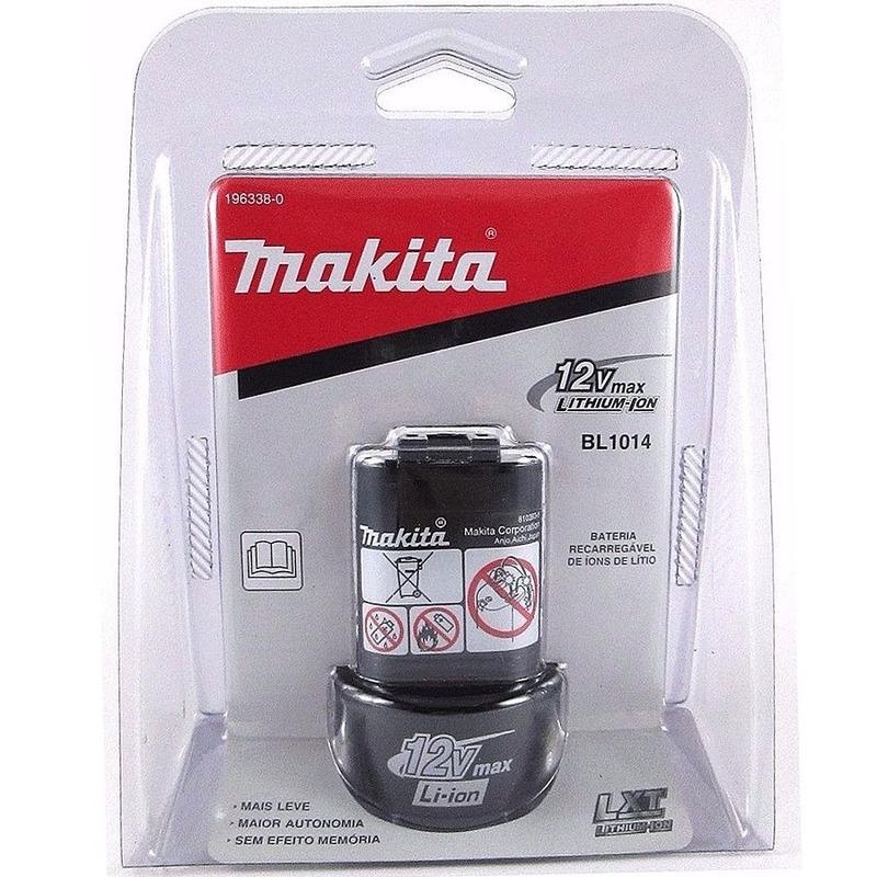 Bateria 12V Íon de Lítio BL1014 - 196338-0 - Makita