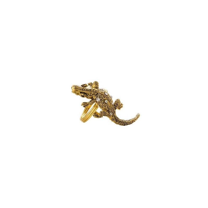 Jogo 4 Aneis de Metal para Guardanapo Alligator - Lyor 4103281