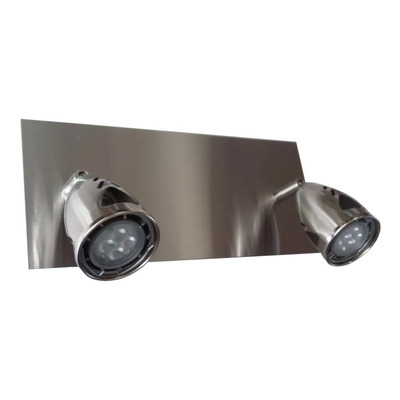 Aplique 2 Luces Acero Con Led Incluido, Super Oferta!!!