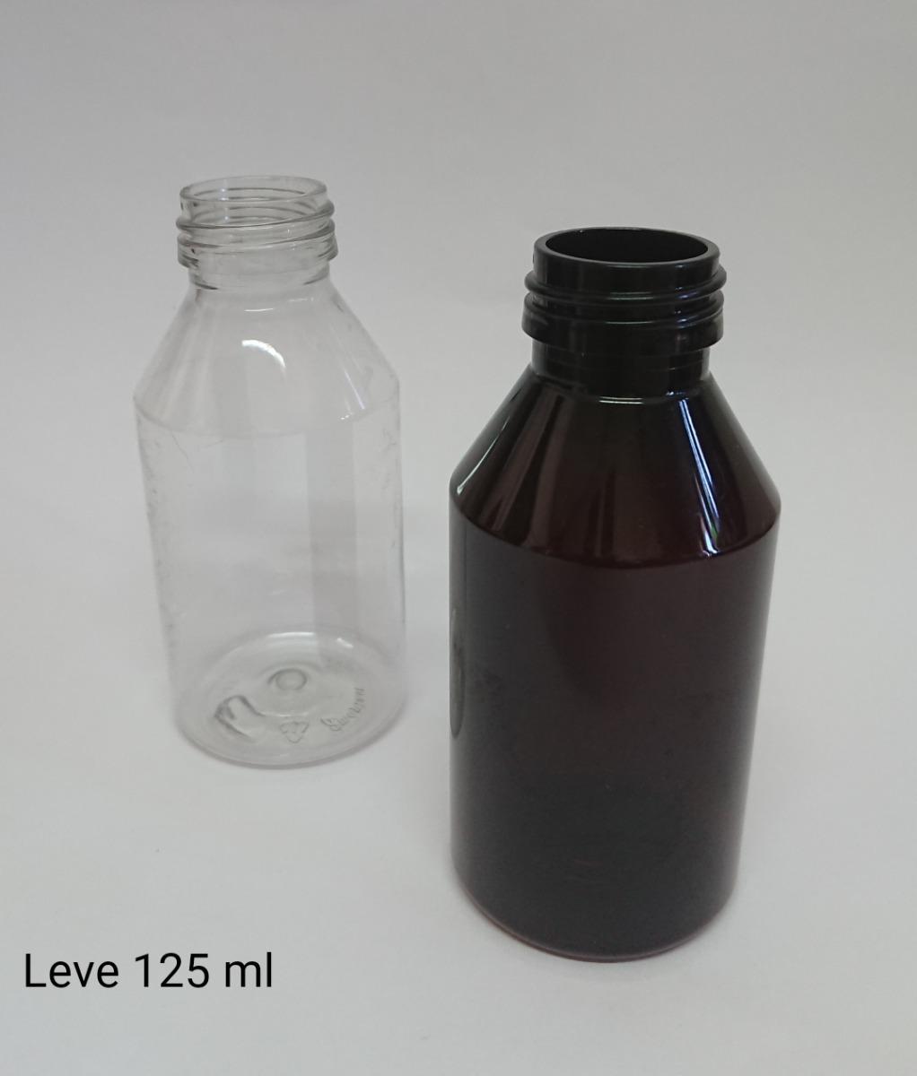 Envases Plásticos Pet 125ml Cristal  C/tapa (100 Unidades)