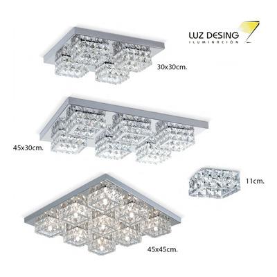 Araña Plafon Aplique 4 Luces Cromo Cairel Diseño Moderno Pal