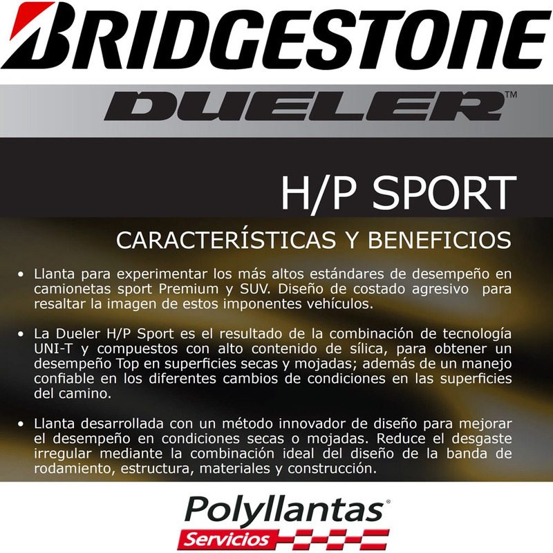 225-65 R17 Bridgestone Dueler HP Sport AS
