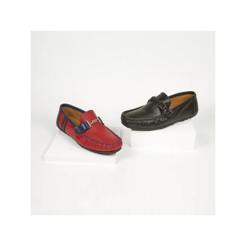 Combo mocasines negro y rojo 018785