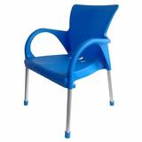 Sillon Plastico Olivia Azul Infantil Patas de Caño