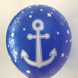 globo marinero rojo azul desinflado apto helio
