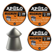 Combo 3 Latas Balines Apolo Magnum 5 5 Mm X 750 Rifle - Swat