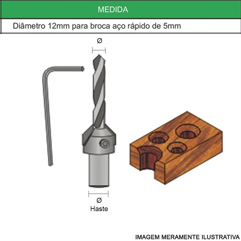 Fresa Escareador 12mm 45º 22A1250.04 - Radix