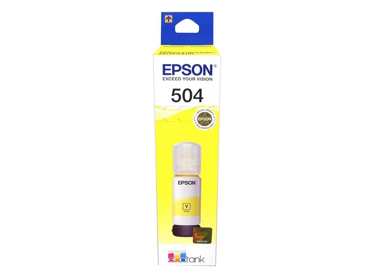 Tinta Epson T504 Amarillo T504420 L4150 L4160 Original