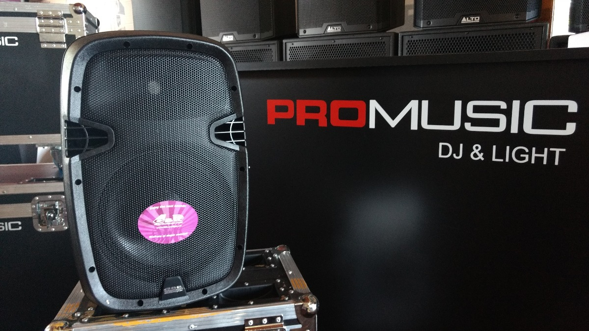 """Bafle GBR 2 vias 10"""" MP3 batería PROMUSIC  dj..."""