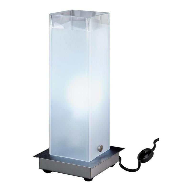 Velador Vidrio Cuadrado Apto Led Excelente Diseño Luz Desing