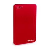 GAVETA HD EXTERNO 2,5 POL USB 3.0 C3TECH CH-300RD VERMELHO
