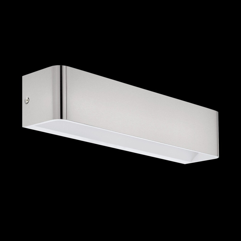 Aplique Pared Led Sania Aluminio Niquel Mate Largo Deco Eglo