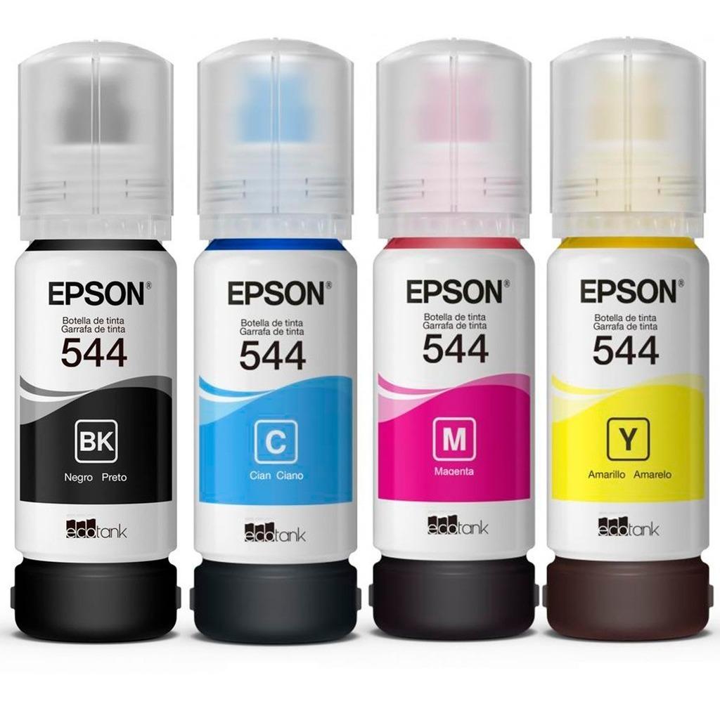 Tintas Epson T544 Original 65ml - Pack X4 Todos Los Colores