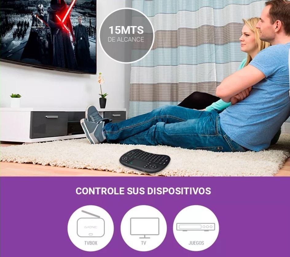 Mini Teclado Retroiluminado Para Tv Box Ideal Smart Tv