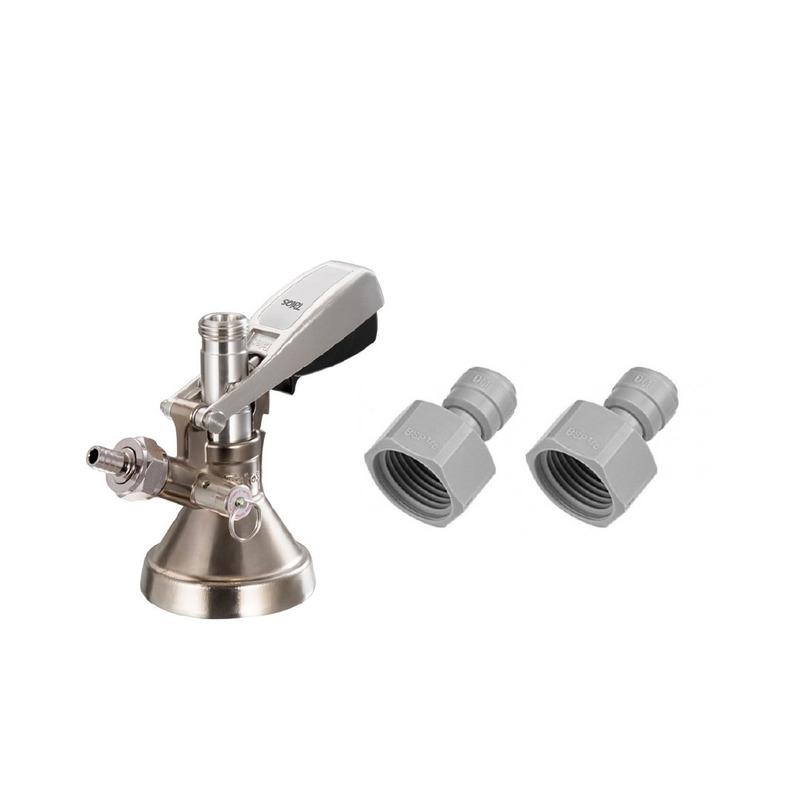 Conector G Talos + 2 acoples rápidos - Kit Cerveza Artesanal -