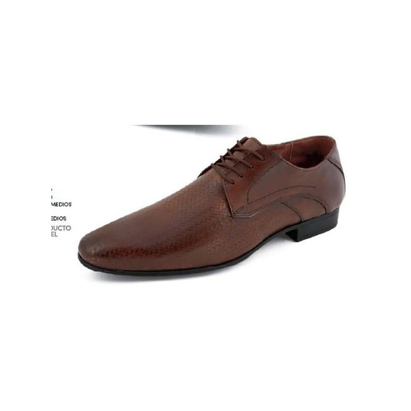 Zapato vestir café agujetas 018413