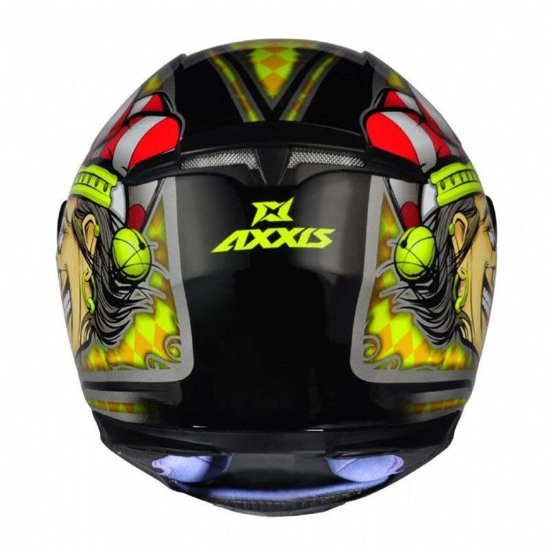 Capacete Axxis Eagle Joker Amarelo