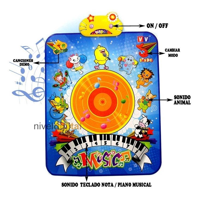 Alfombra Musical Didactica Gigante Sonido Animales Melodias