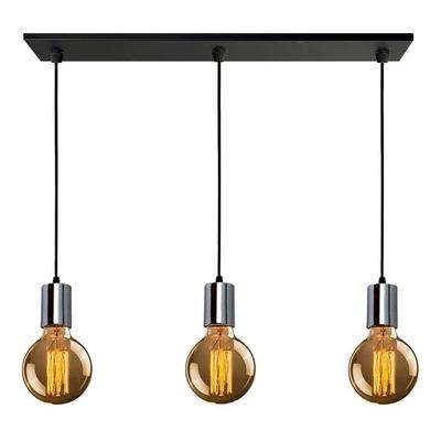 Colgante 3 Luces Moderno Bell Capuchon Vintage Apto Led