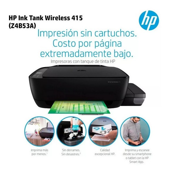 Impresora Multifuncion Hp 415 Color Sis Continuo Wifi