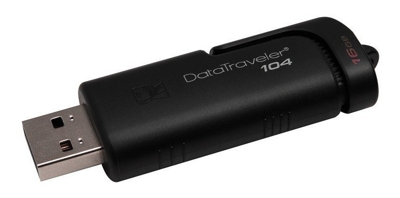 Pen Drive Kingston Dt104 16gb Retractil Usb 100% Original