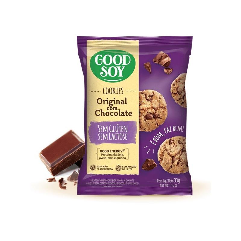 Cookies de Soja c/ Gotas de Choc. S/ Gluten - 2X33g GoodSoy