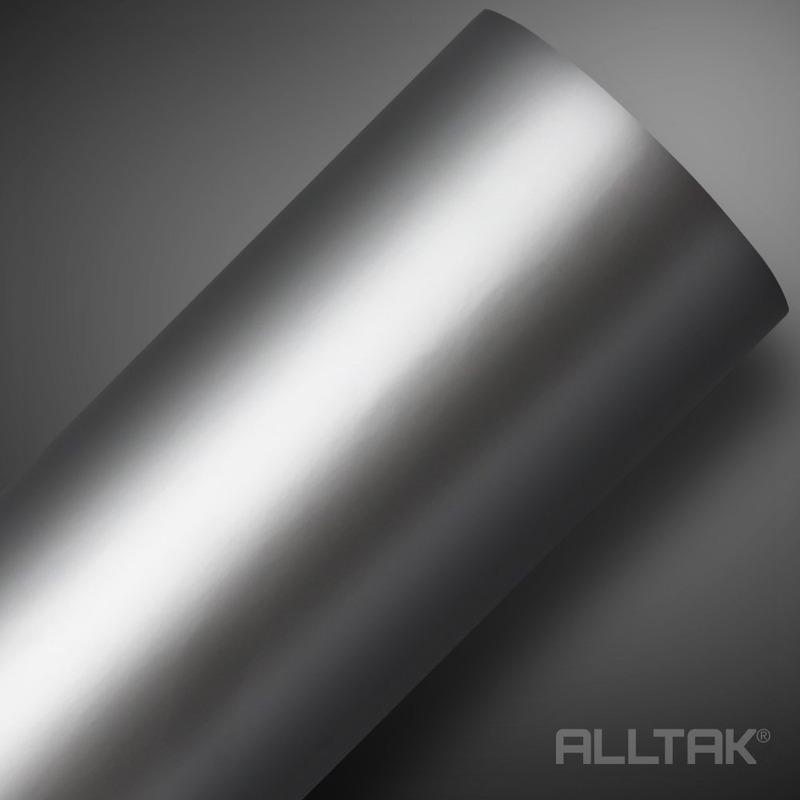 Adesivo para envelopamento automotivo prata fosco larg. 1,38 m