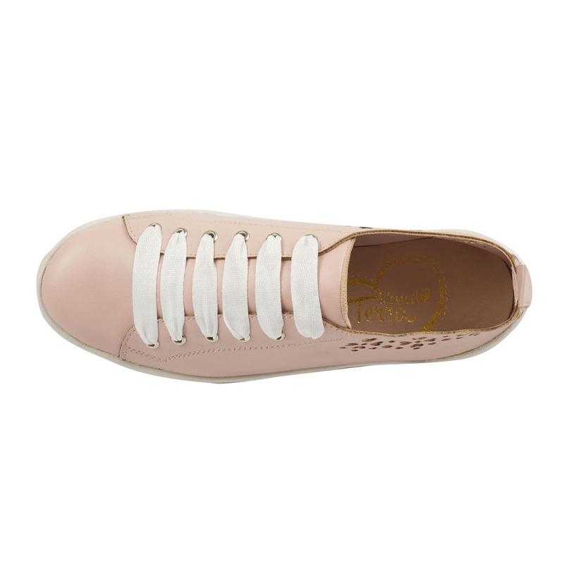Sneakers plataforma rosas con blanco 015859