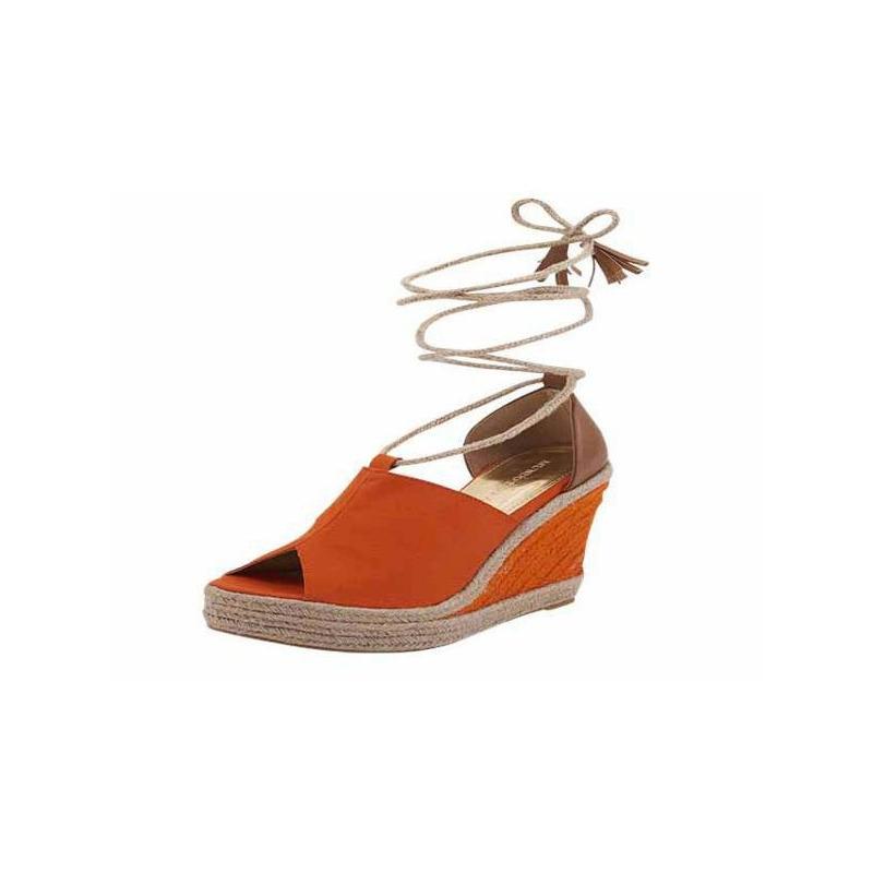 Sandalia plataforma naranja pulsera 016182
