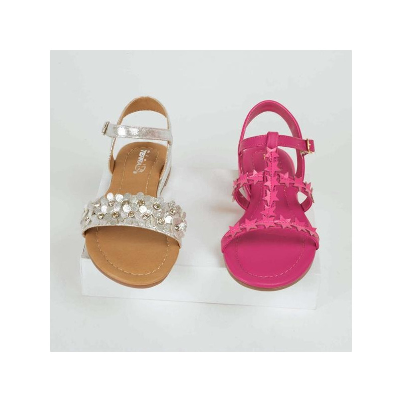 Combo sandalias rosa y blanco 018734