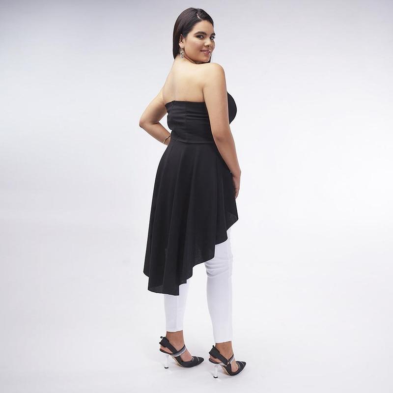 Blusa Negra Larga 019888